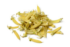 Heap of yellow snow peas Stock Images