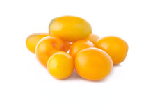 The heap of yellow tomatoes Stock Image