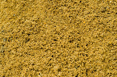 Heap of yellow wet construction sand Royalty Free Stock Photos
