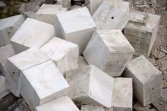Heaped concrete blocks Royalty Free Stock Photo
