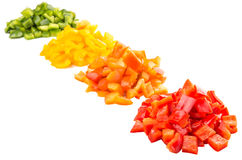 Heaps Of Chopped Colorful Bell Pepper III Stock Photo