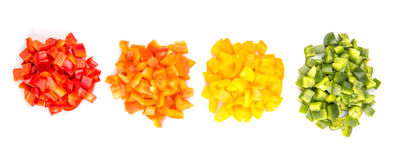 Heaps Of Chopped Colorful Bell Pepper IV Royalty Free Stock Image