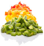 Heaps Of Chopped Colorful Bell Pepper IX Royalty Free Stock Images