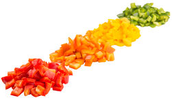 Heaps Of Chopped Colorful Bell Pepper VI Stock Images