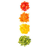 Heaps Of Chopped Colorful Bell Pepper VII Stock Image