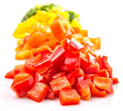 Heaps Of Chopped Colorful Bell Pepper VIII Stock Photography