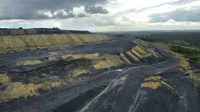 Heaps of coal. For use in presentations, manuals, design, etc stock video