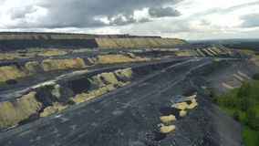 Heaps of coal. For use in presentations, manuals, design, etc stock footage