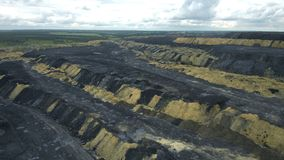 Heaps of coal. For use in presentations, manuals, design, etc stock video footage
