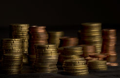 Heaps of coins Royalty Free Stock Photography