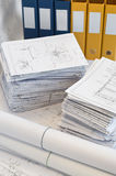 Heaps of design and project drawings Stock Images