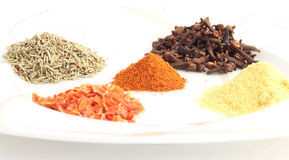 Heaps of different spice Stock Photo