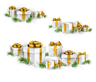 Heaps of gift boxes. Realistic set. Stock Photo