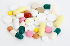 Heaps of pills Stock Photos