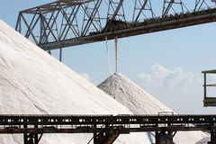 Heaps of salt in Margherita di Savoia, Italy Stock Photography