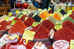 Heaps of spices on asian market Royalty Free Stock Images