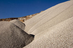 Heaps of stone aggregate for road construction Stock Images
