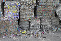Heaps of waste paper in the paper mill Stock Image