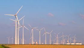 Heaps of Wind Turbines Stock Photography