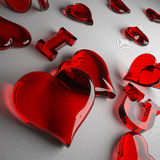 Hear love red Royalty Free Stock Image