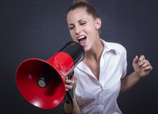 Hear me!! Royalty Free Stock Photo
