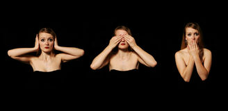 Hear No Evil Stock Photo