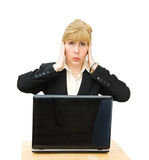 Hear no Evil - enough talk! Stock Photo