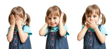 Hear no evil, see no evil and speak no evil Royalty Free Stock Photos