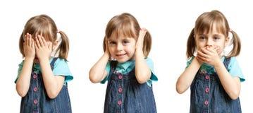 Hear no evil, see no evil and speak no evil Royalty Free Stock Photos