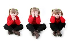 Hear No Evil, See No Evil, Speak No Evil Stock Images