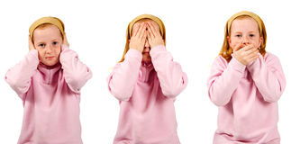 Hear no evil, see no evil, speak no evil , Stock Photo