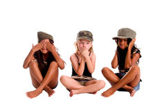 Hear No See No Speak No Evil Royalty Free Stock Photography