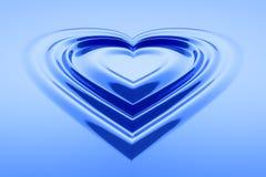 Hear shaped water drops Royalty Free Stock Image