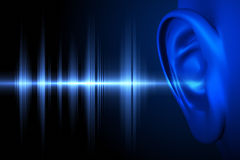 Hear the sound wave Royalty Free Stock Photo