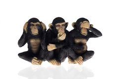 Hear speak see no evil Stock Photos