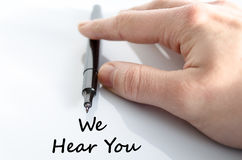 We hear you text concept Royalty Free Stock Images