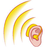 Hearing aid stock illustration