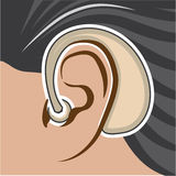Hearing Aid illustration Stock Images