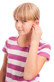 Hearing aid settings Stock Photos