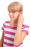 Hearing aid settings Stock Photos