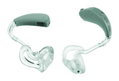 Hearing Aid. On White Background royalty free stock images