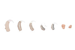 Hearing aids, different kind royalty free stock image