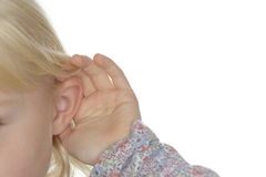 Hearing details Stock Images