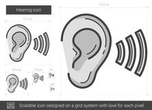 Hearing line icon. Royalty Free Stock Photography