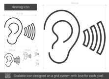 Hearing line icon. Stock Photography
