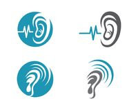 Hearing Logo Template Royalty Free Stock Photography
