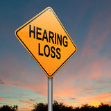Hearing loss concept. Royalty Free Stock Image