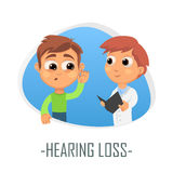 Hearing loss medical concept. Vector illustration. Stock Photography
