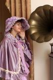 Hearing music Royalty Free Stock Image
