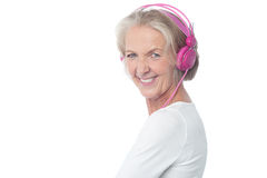 Hearing music is my best hobby. Royalty Free Stock Image